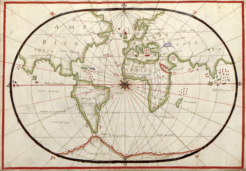 Map of the world, 1590