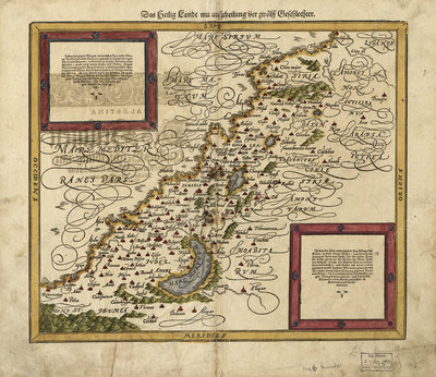 Map of Palestine, 1588