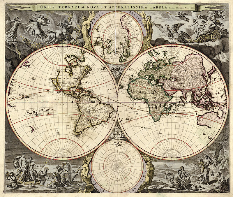 Map of the world, 1690