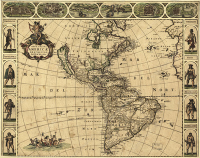 Map of the Americas, 1660