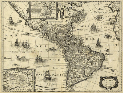 Map of the Americas, 1640
