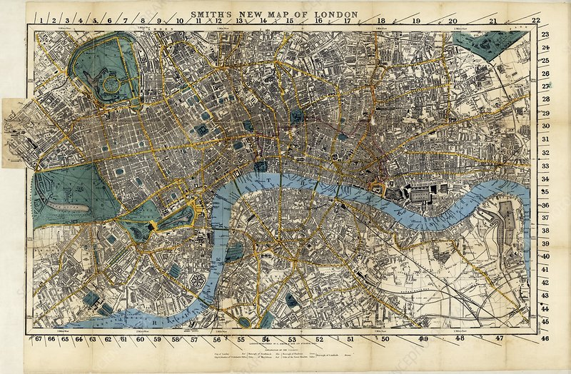 Map of London, 1860