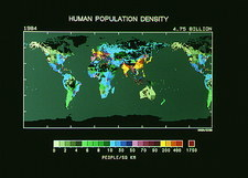 Map of global population densities