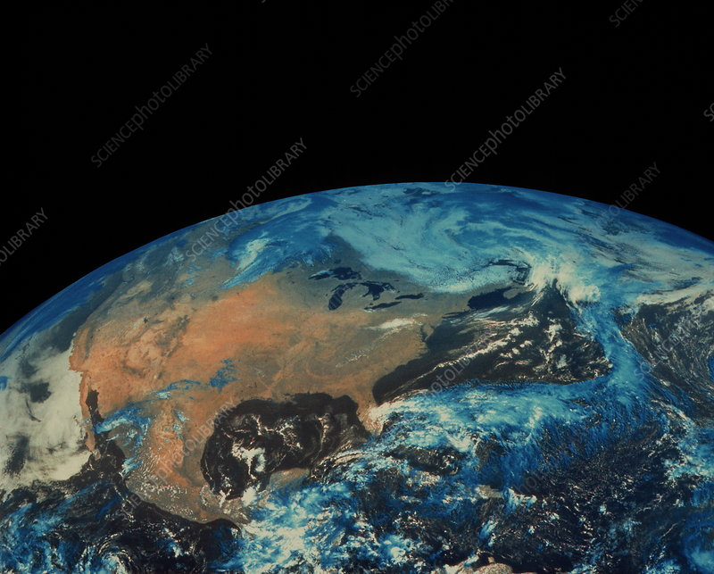 GOES satellite image of North America