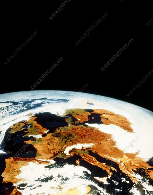 Meteosat image of Europe & part of N. Africa