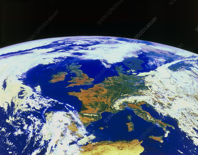 Meteosat image of Europe