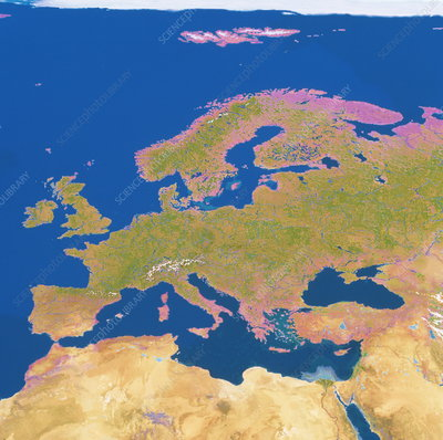Geosphere image of Europe
