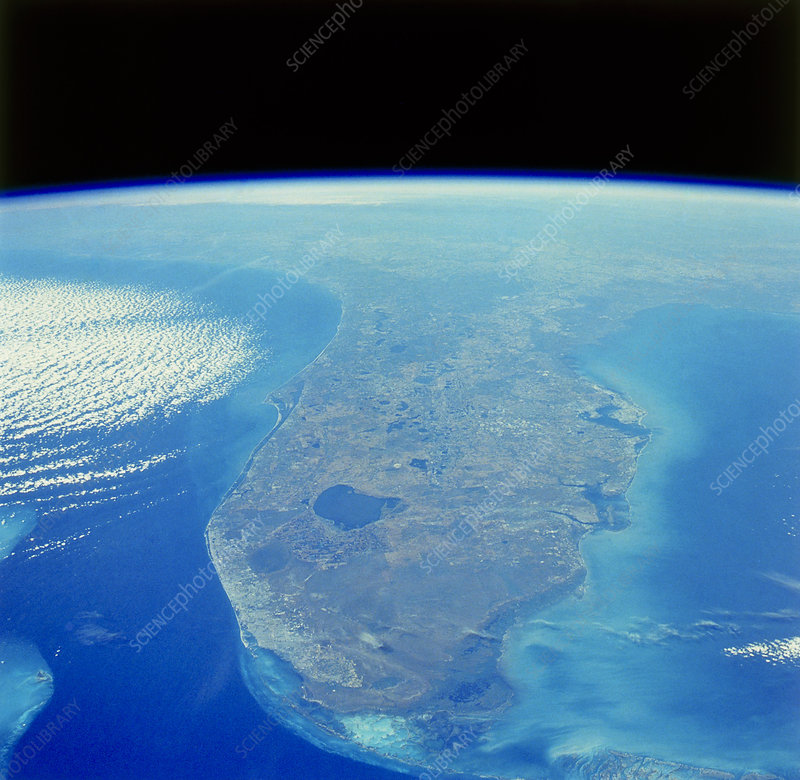 Florida peninsula seen from Space Shuttle
