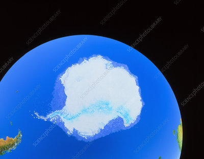 Simulated view of Antarctica from space