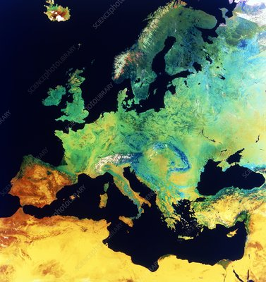 Europe NOAA mosaic, summer