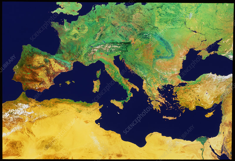 Southern Europe and Mediterranean Sea