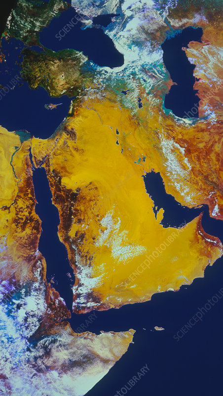 Satellite image of Arabian Peninsula