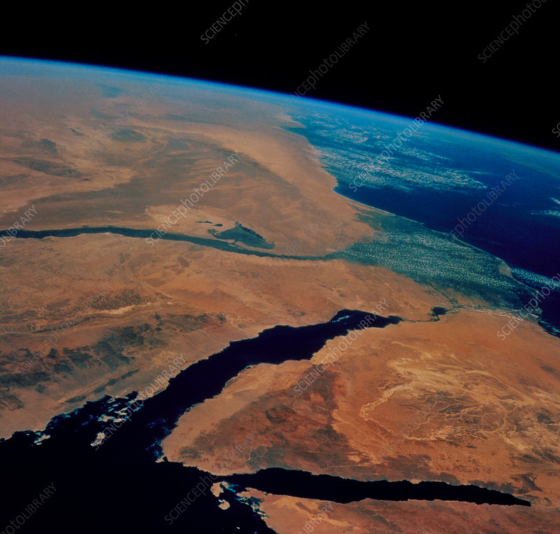Sinai and Egypt seen from space shuttle STS-69