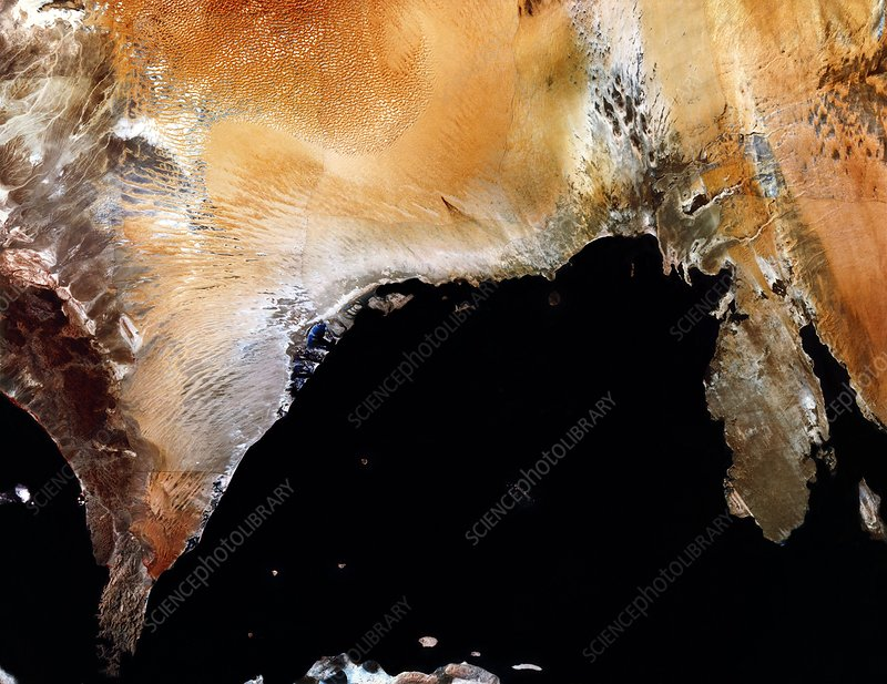 Infrared satellite image of United Arab Emirates