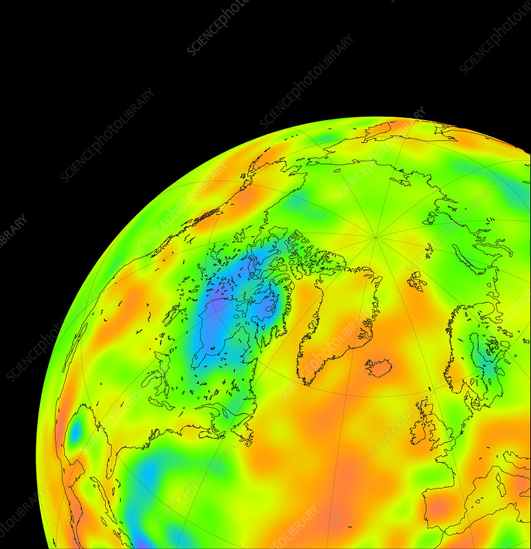Gravity map of Hudson Bay
