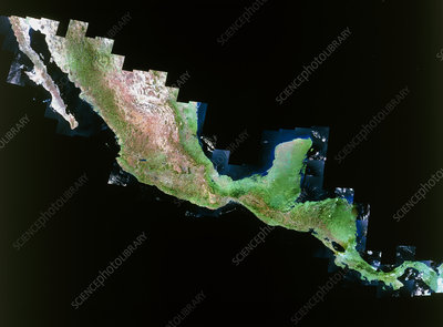 True-colour LANDSAT image of Central America
