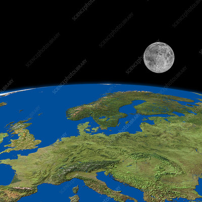 Europe and the Moon