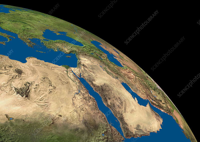 Arabian peninsula and Egypt