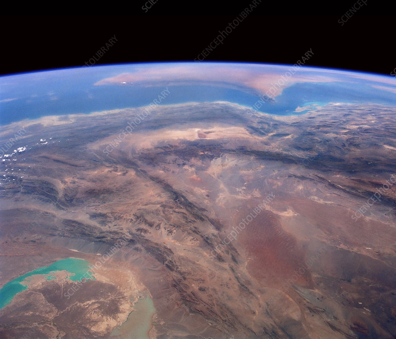 Iran and Persian Gulf from space