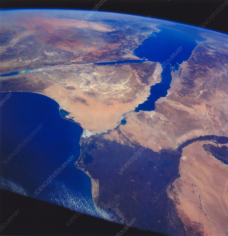 Sinai Peninsula and Nile River Delta