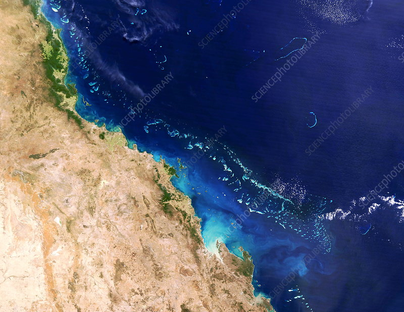 Great Barrier Reef, Landsat image