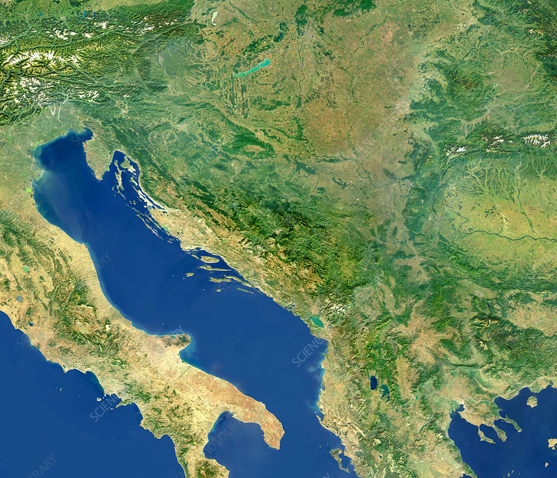 Adriatic Sea and the Balkans
