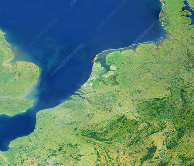 Low Countries, satellite image