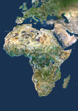 Africa, satellite image