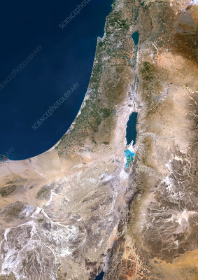 Israel, satellite image