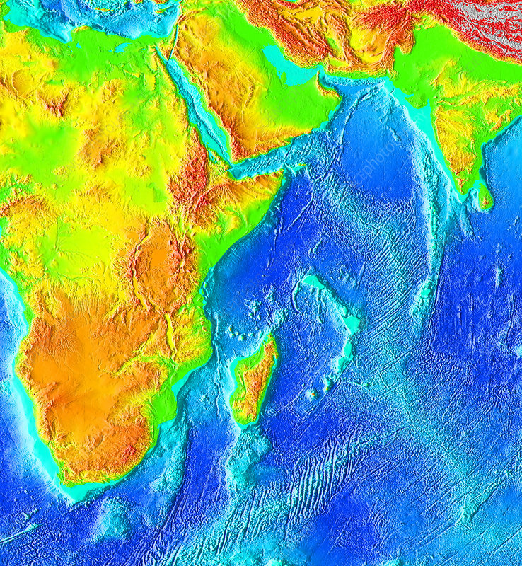 Great Rift Valley, topographic map
