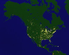 North America by night