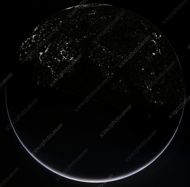 Earth at night, composite satellite image