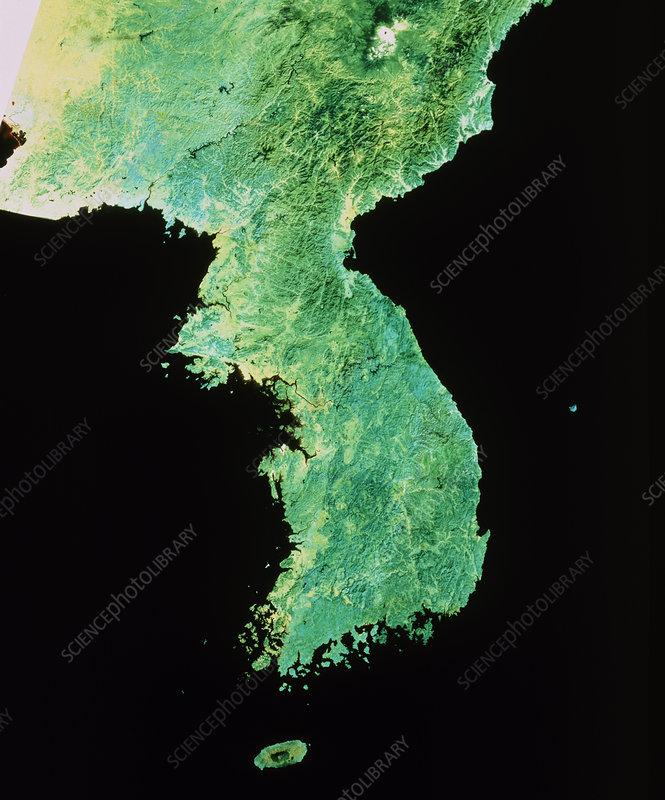 Landsat mosiac of North & South Korea