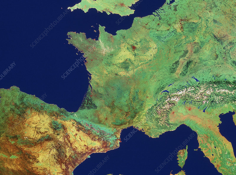 France from space