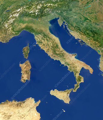 Italy, satellite image
