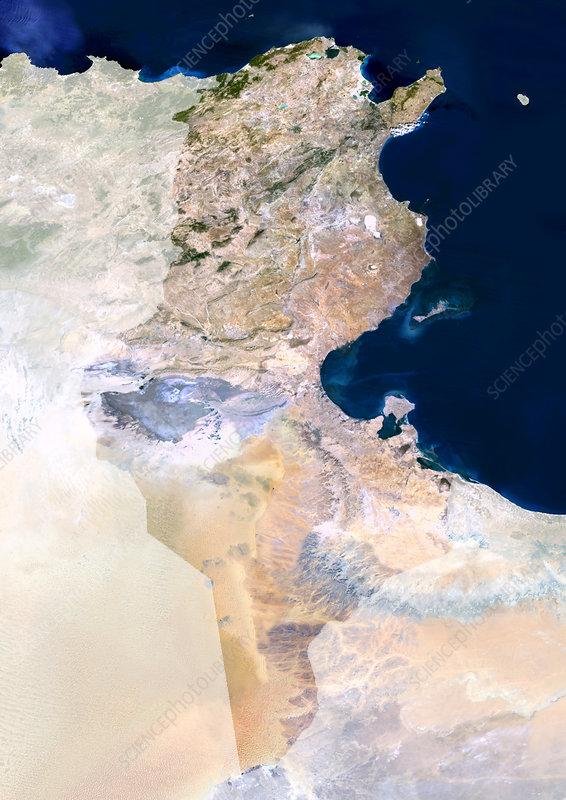 Tunisia, satellite image