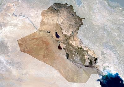 Iraq, satellite image
