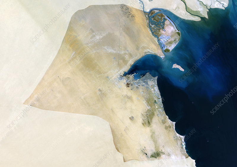 Kuwait, satellite image