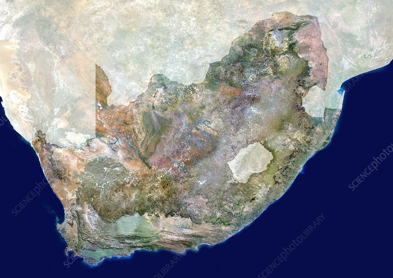 South Africa, satellite image