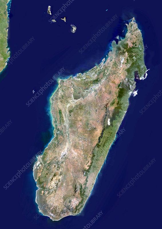 Madagascar, satellite image