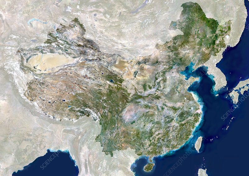 China, satellite image