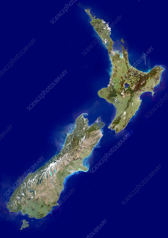 New Zealand, satellite image
