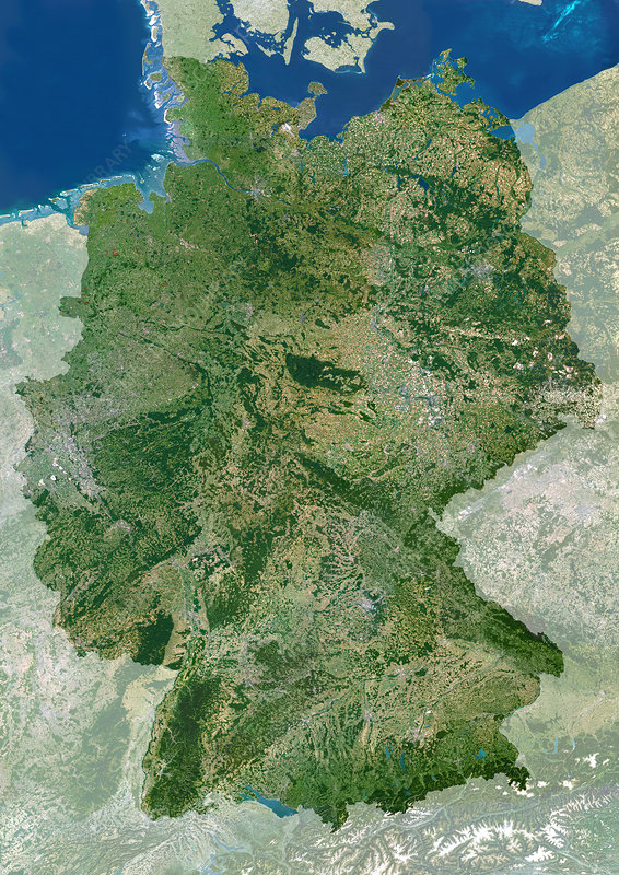 Germany, satellite image