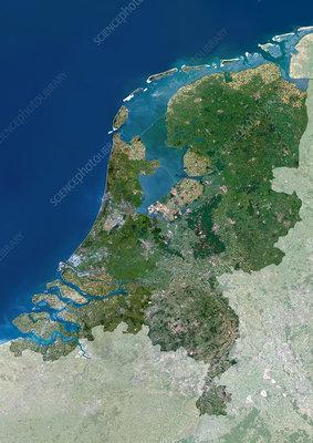 The Netherlands, satellite image