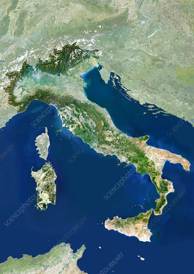 Italy, satellite image