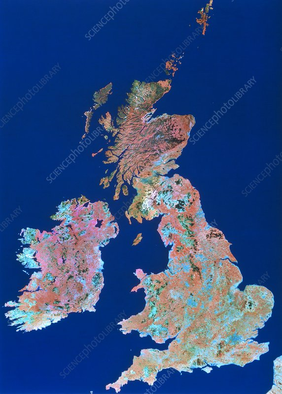 Landsat mosaic of British Isles