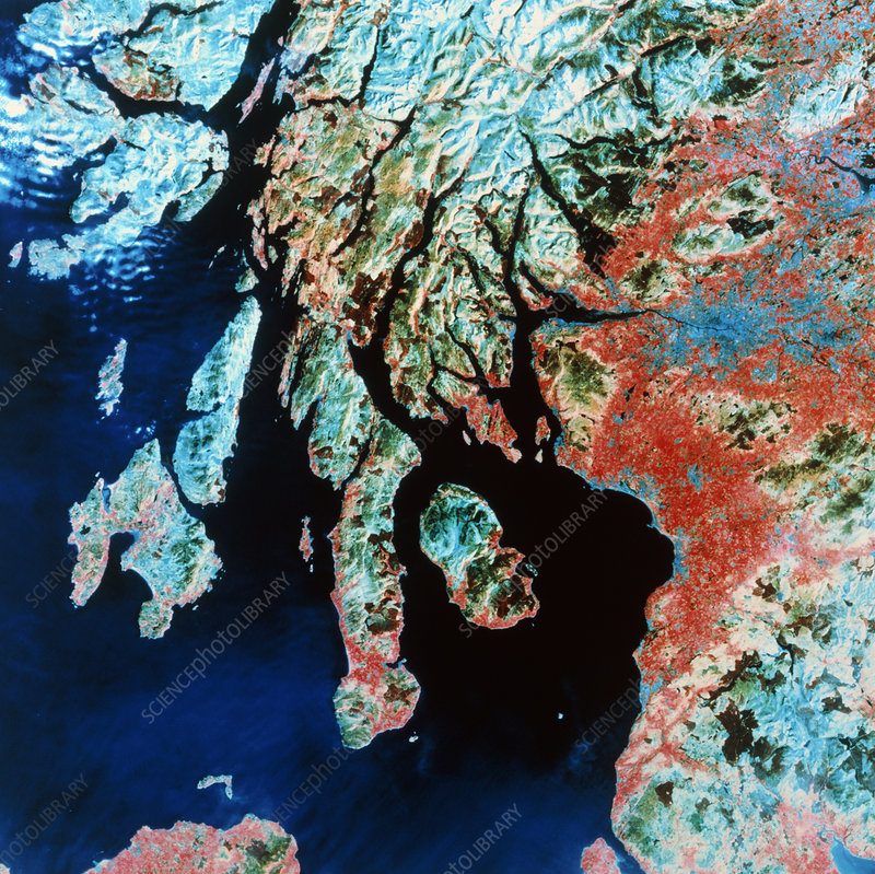 Landsat image of Glasgow and Firth of Clyde