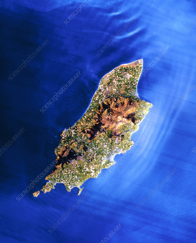 Landsat image of the Isle of Man