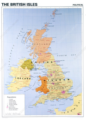 Political map of the British isles