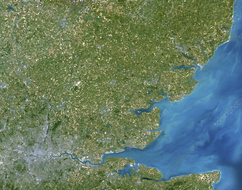 Essex, UK, satellite image